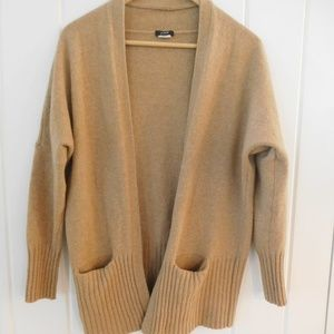 J Crew Wool/Cashmere Camel Cardigan Sweater